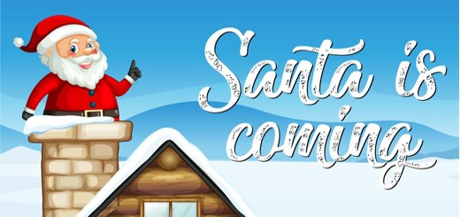 Santa is coming graphic image