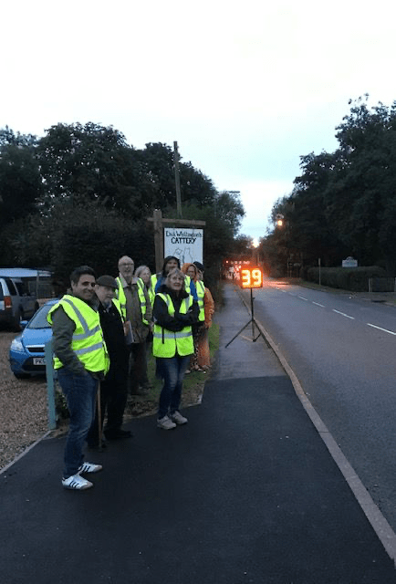 Speedwatch comes to Hockcliffe - group photograph
